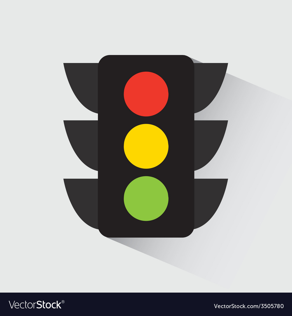 Traffic light design vector | Price: 1 Credit (USD $1)