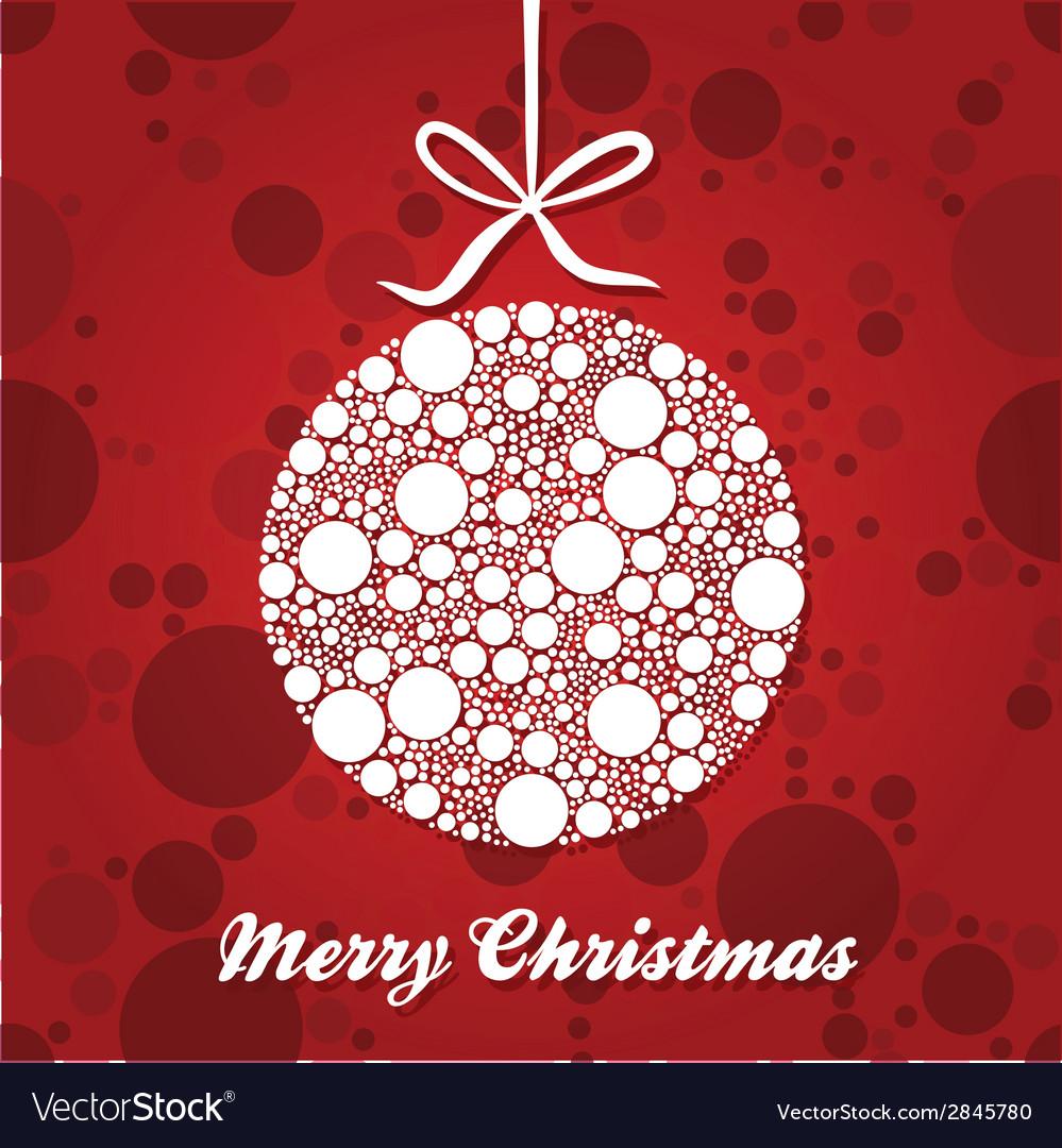 White christmas ball vector | Price: 1 Credit (USD $1)