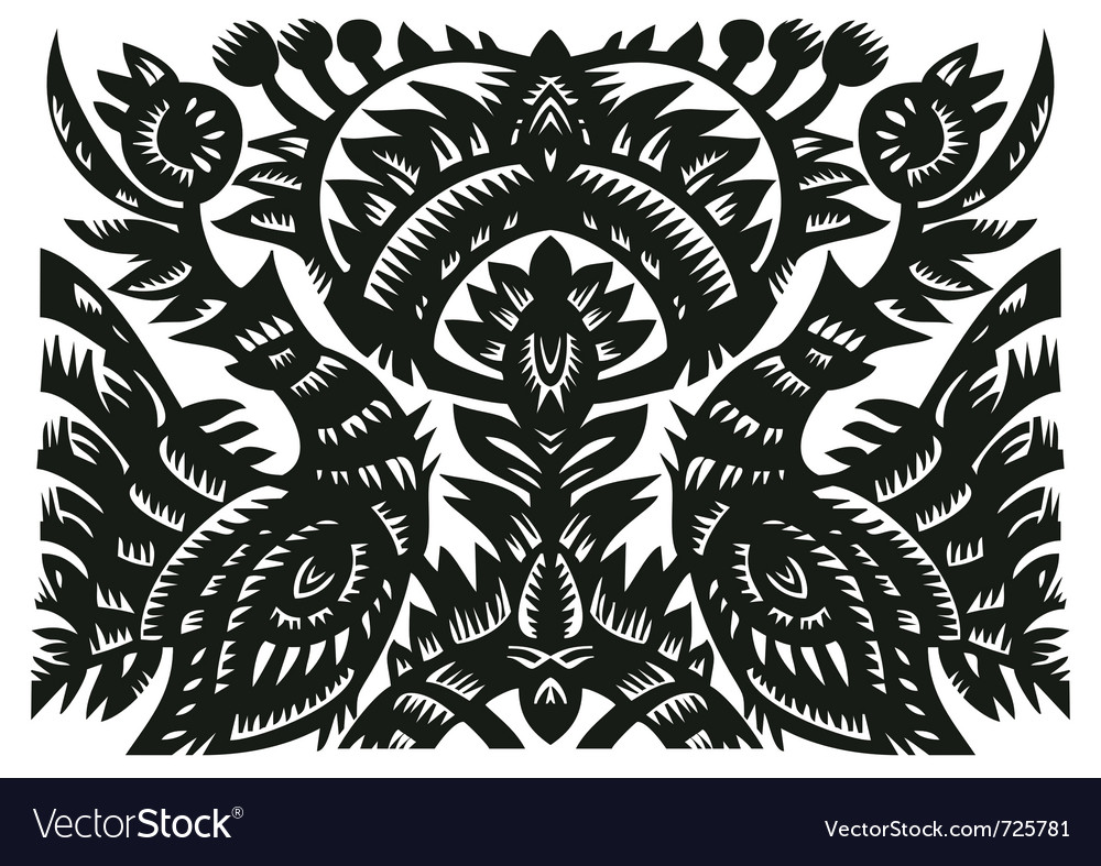 Birds and flowers on vector | Price: 1 Credit (USD $1)