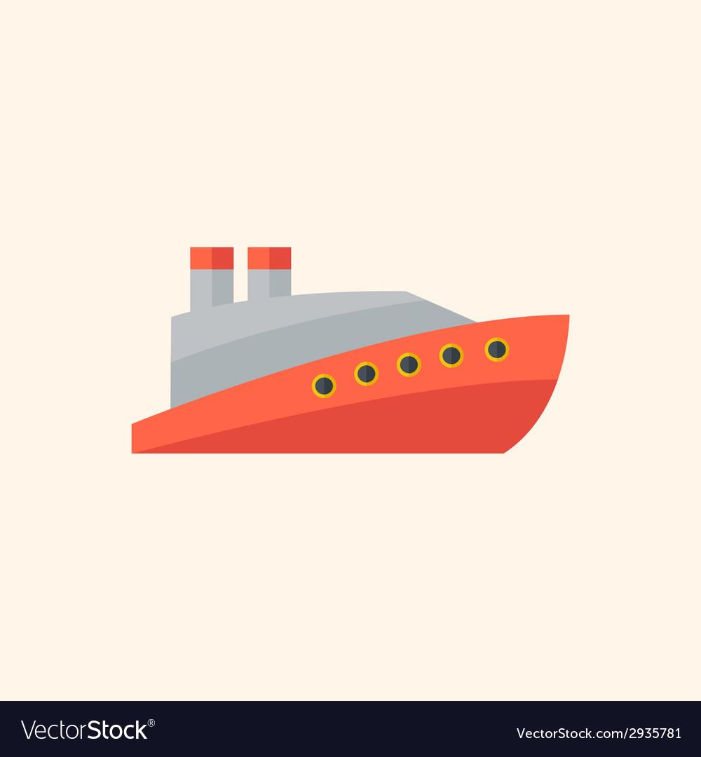 Boat flat icon vector   Price: 1 Credit (USD $1)