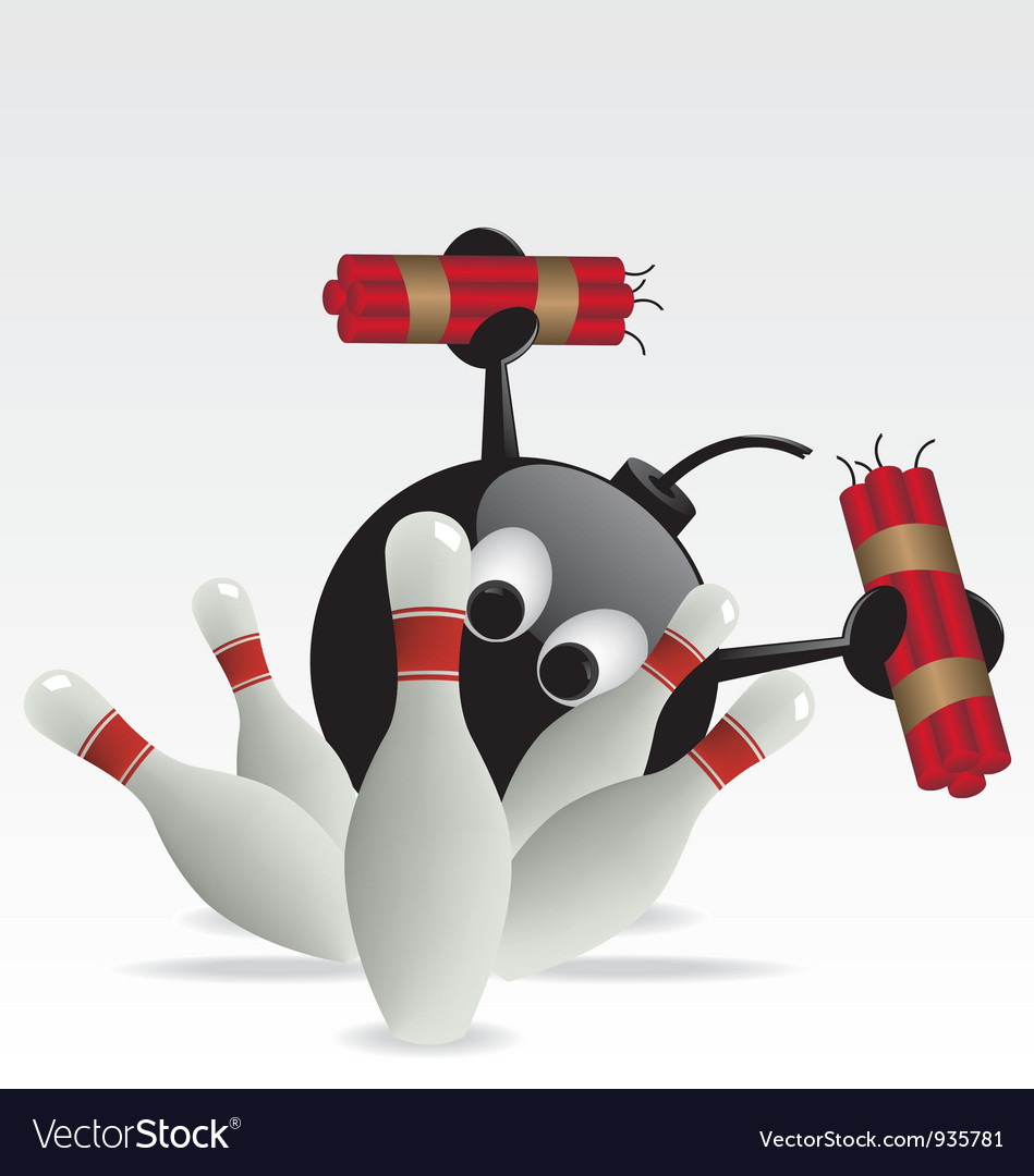 Bowling pins and bomb vector | Price: 1 Credit (USD $1)