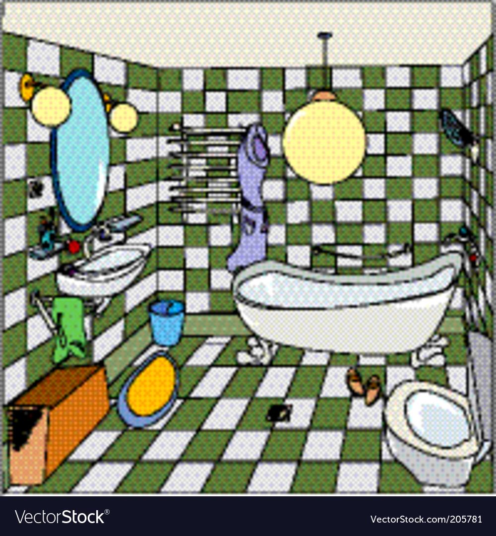 Cartoon bathroom vector | Price: 1 Credit (USD $1)