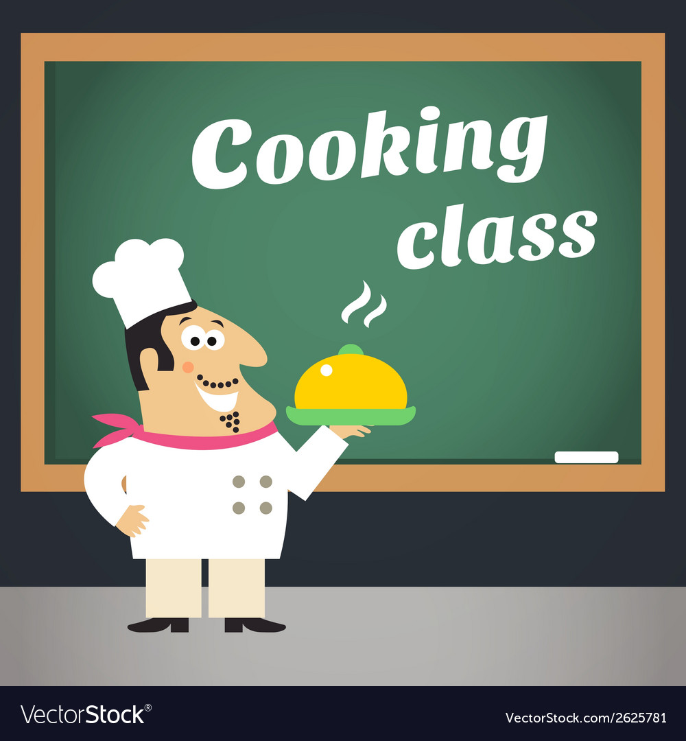 Cooking class advertising poster vector | Price: 1 Credit (USD $1)