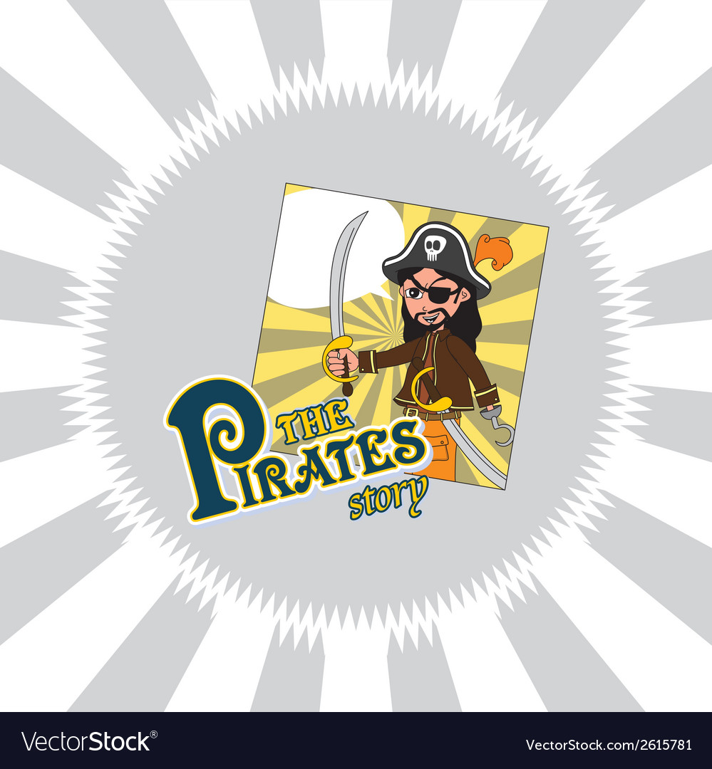 Hipster pirate design vector | Price: 1 Credit (USD $1)