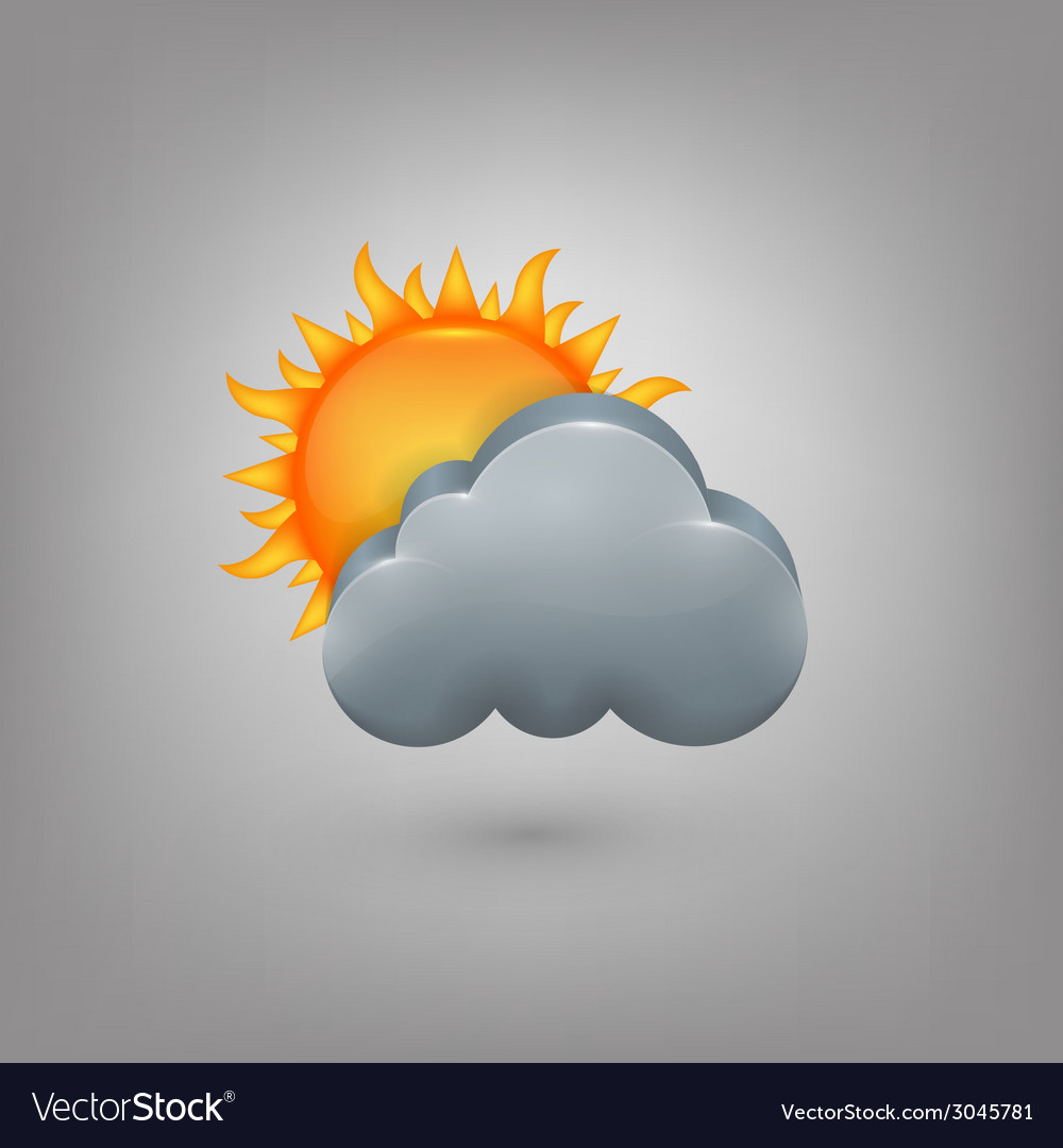 Icon weather cloud sun vector | Price: 1 Credit (USD $1)