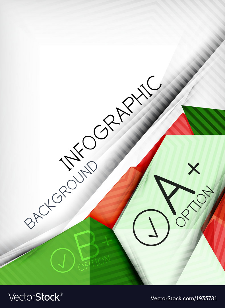 Infographic options geometrical background design vector | Price: 1 Credit (USD $1)