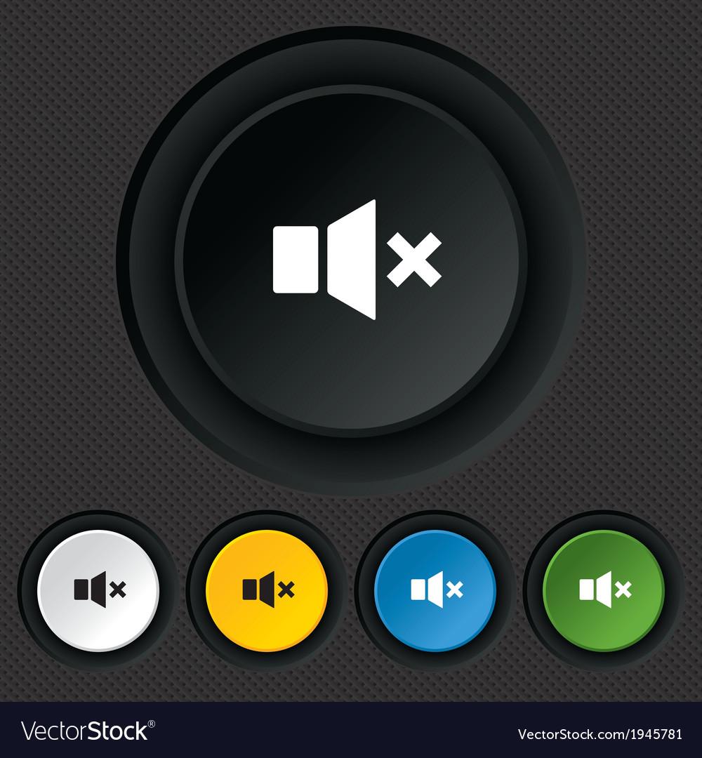 Mute speaker sign icon sound symbol vector   Price: 1 Credit (USD $1)