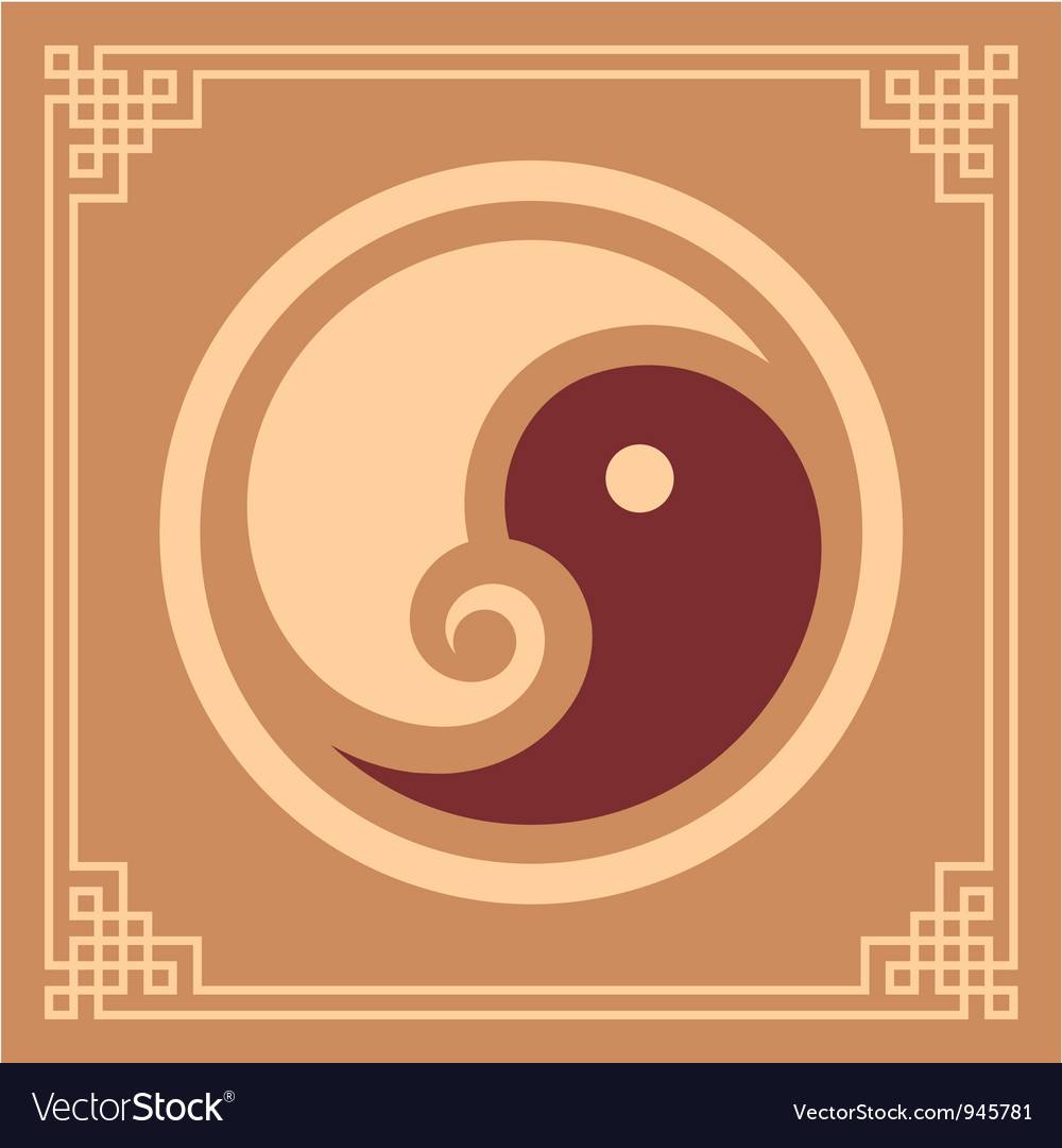 Oriental pattern - yin yang pattern vector | Price: 1 Credit (USD $1)