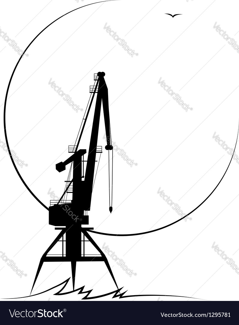Port crane vector | Price: 1 Credit (USD $1)