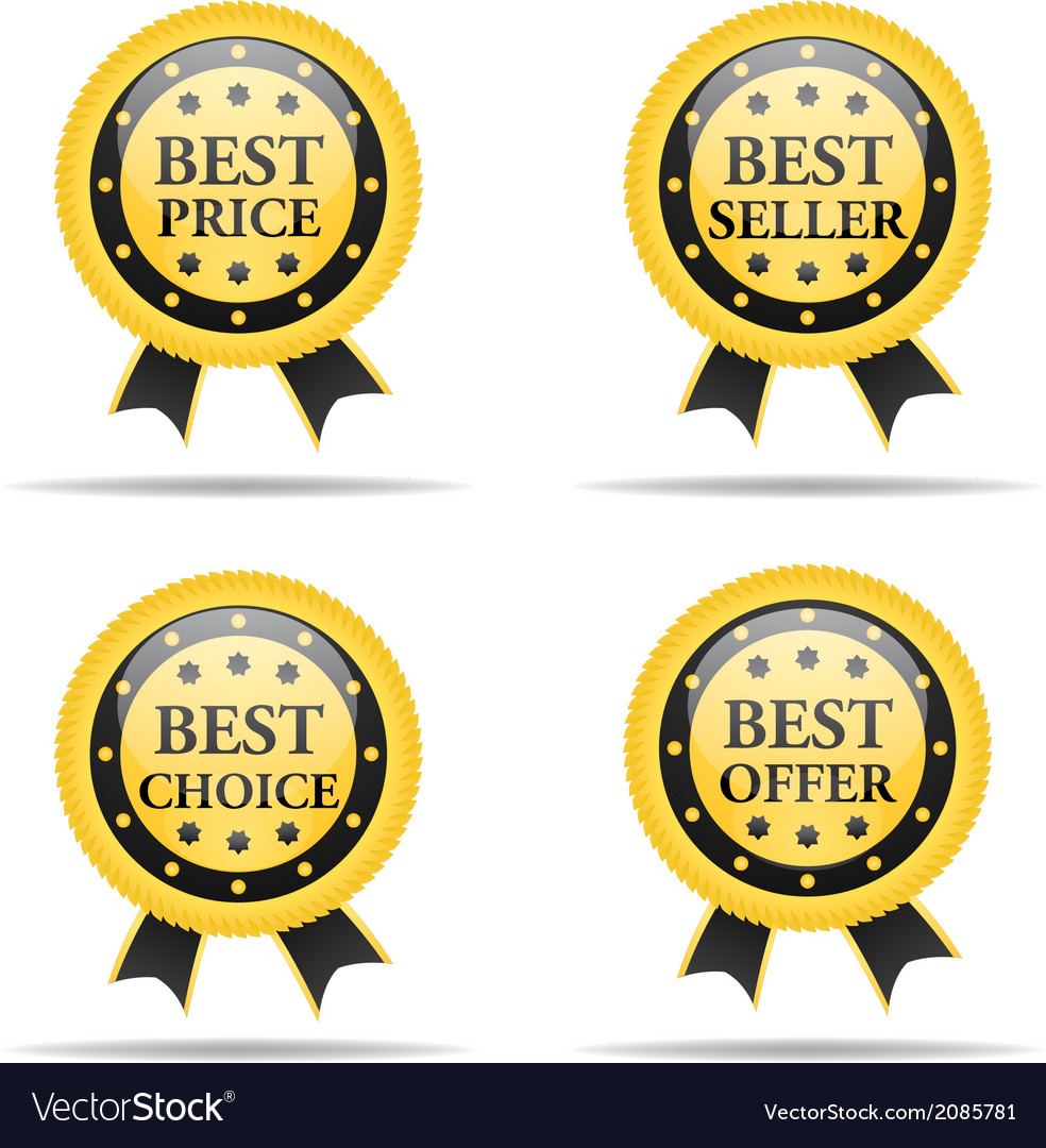 Set of commercial badges vector | Price: 1 Credit (USD $1)