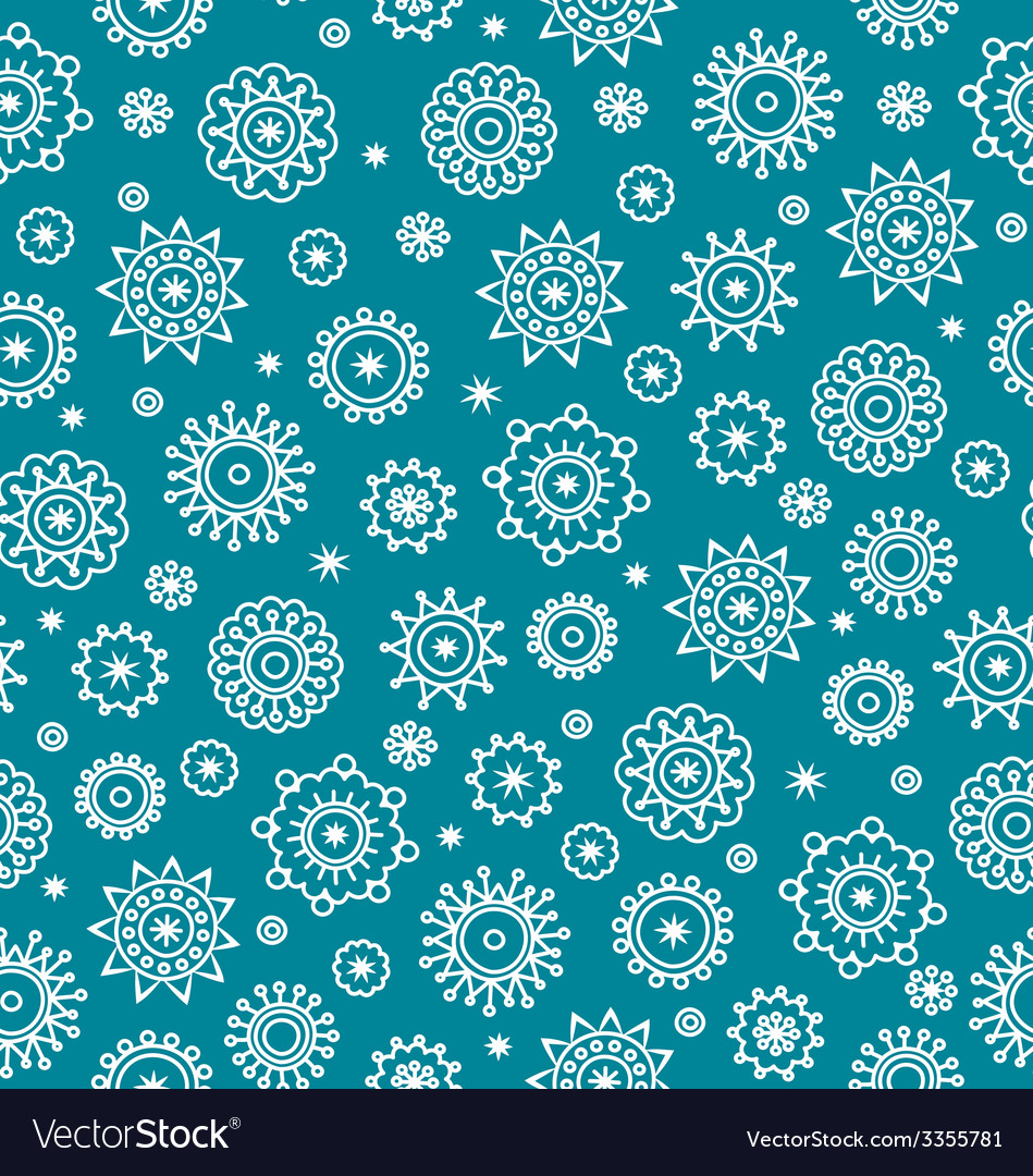 Snowflakes pattern vector | Price: 1 Credit (USD $1)