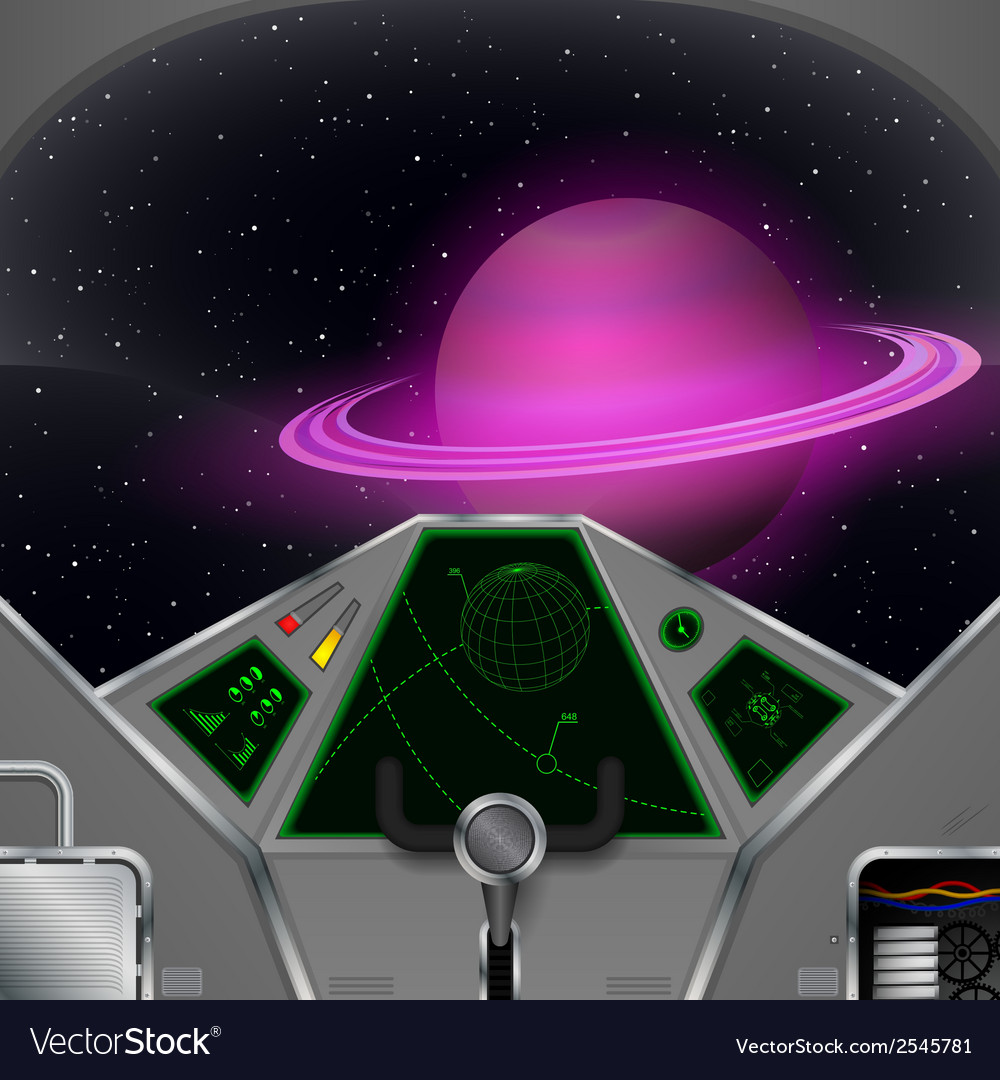 Spaceship cabin vector | Price: 1 Credit (USD $1)