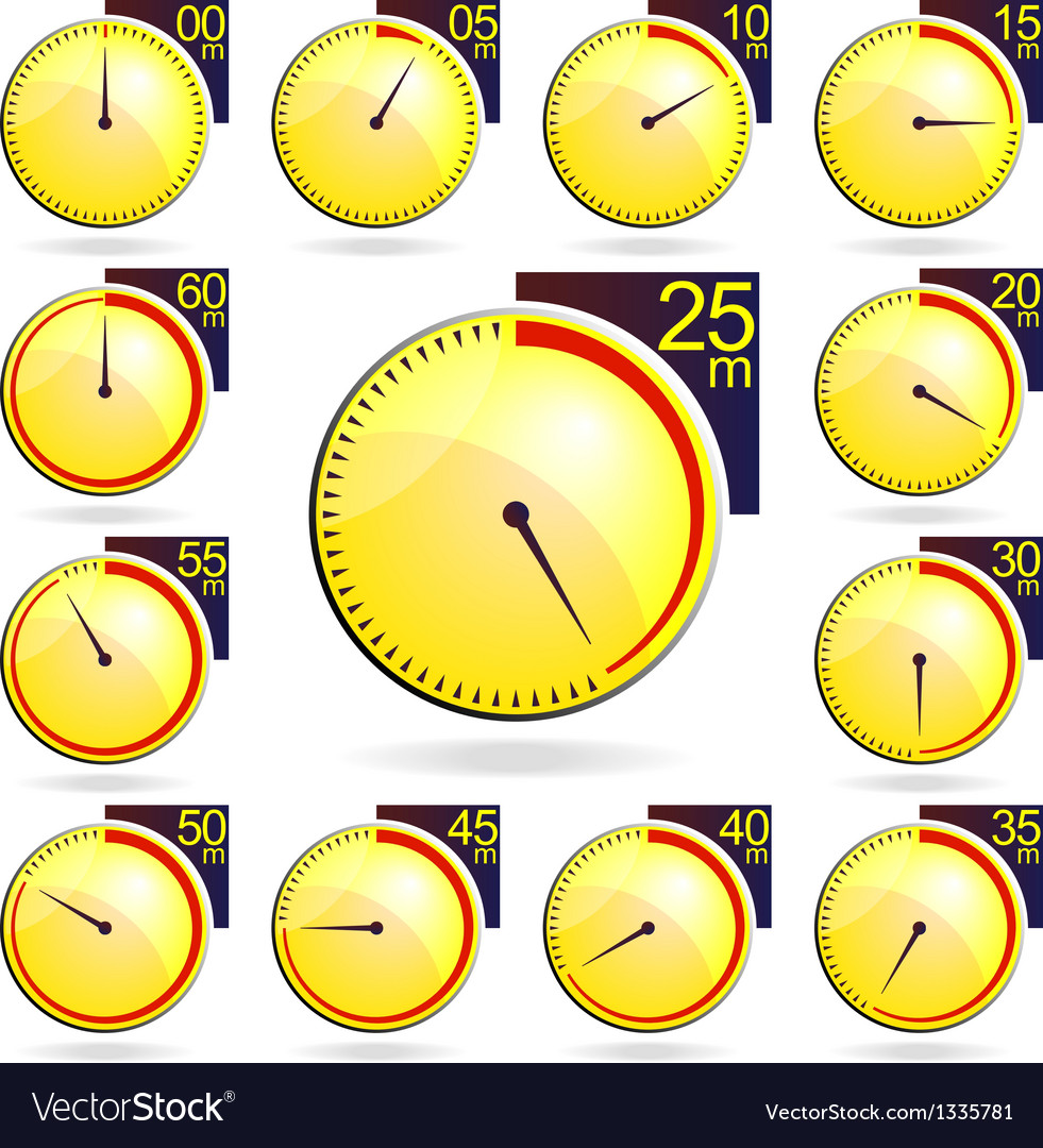 Stopwatch - yellow timers set vector | Price: 1 Credit (USD $1)