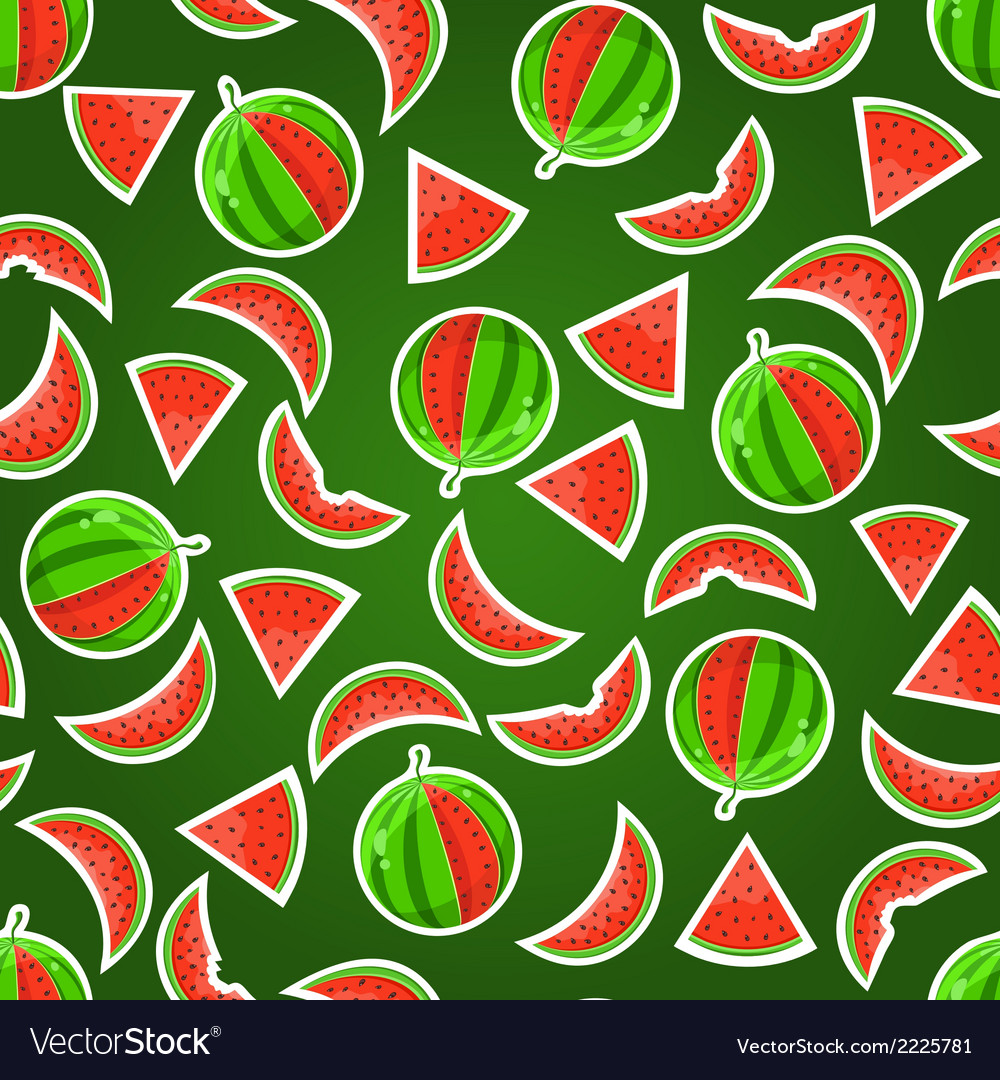 Watermelon seamless pattern vector | Price: 1 Credit (USD $1)
