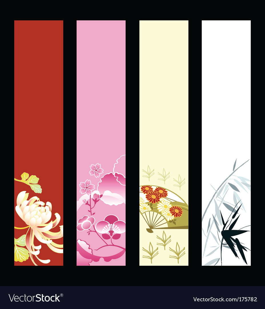 Asian art banners vector | Price: 1 Credit (USD $1)