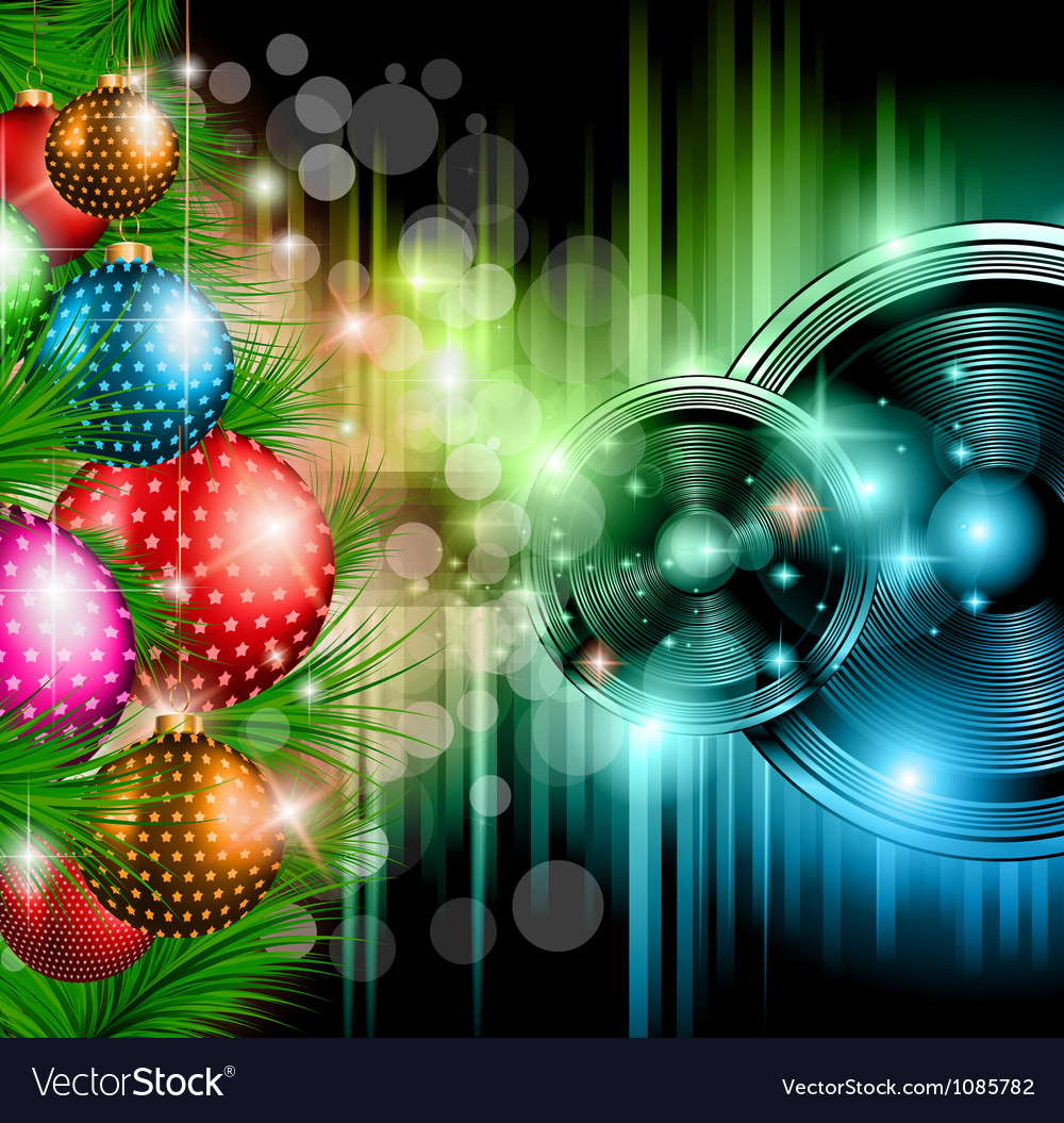 Christmas club party background vector | Price: 1 Credit (USD $1)