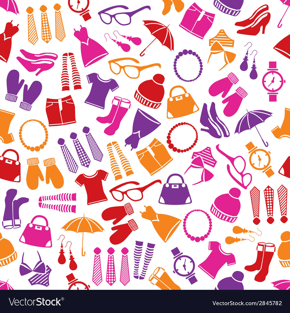 Fashion seamless pattern vector | Price: 1 Credit (USD $1)