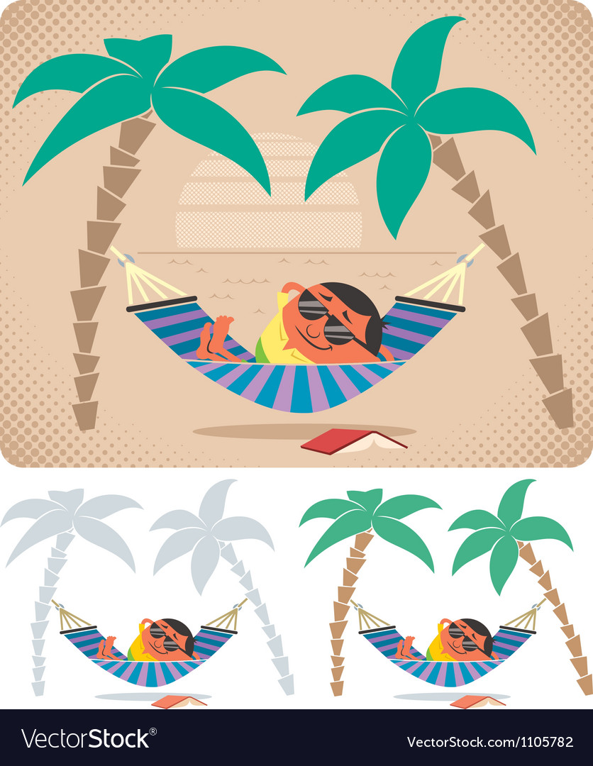 Hammock relaxation vector | Price: 3 Credit (USD $3)