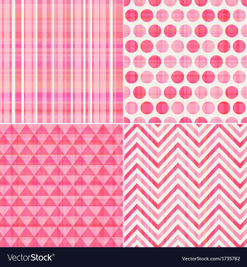 Seamless geometric pink pattern vector | Price: 1 Credit (USD $1)