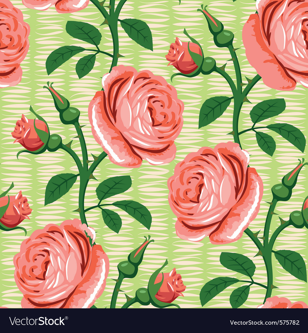 Seamless rose pink background vector | Price: 1 Credit (USD $1)
