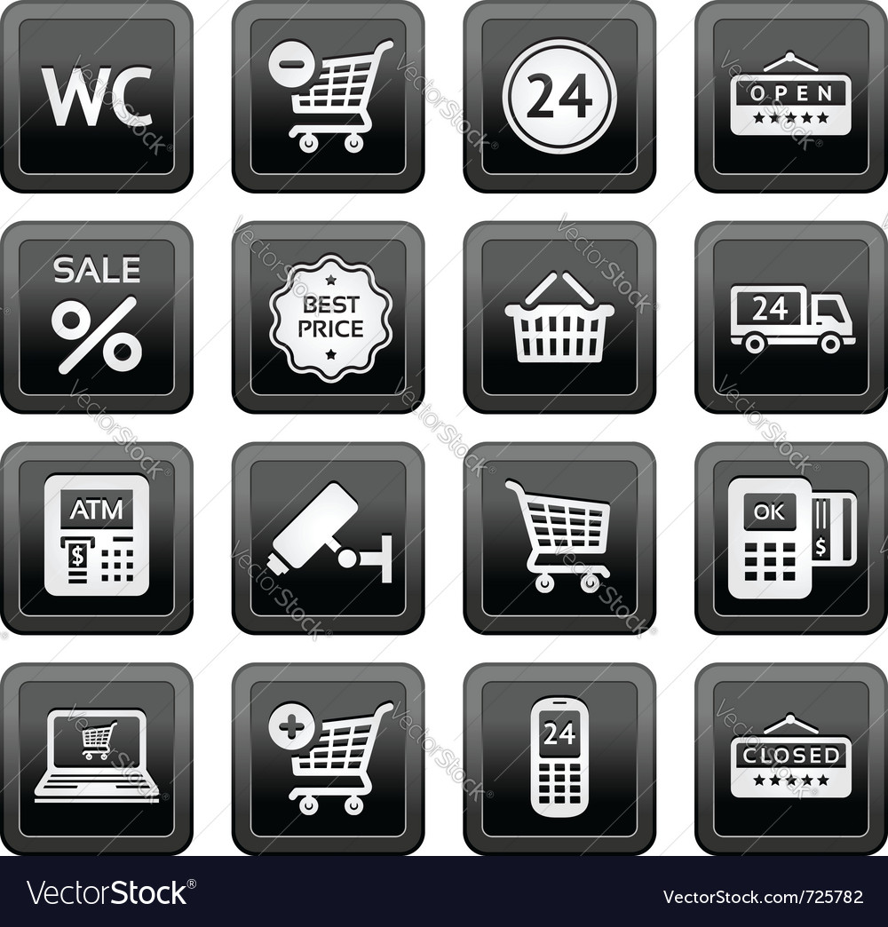 Supermarket icons vector | Price: 1 Credit (USD $1)