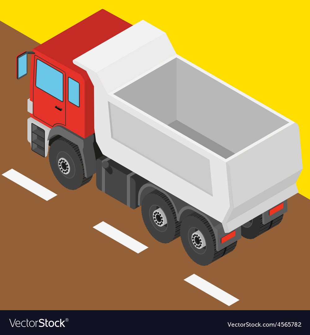 Truck in isometric projection vector   Price: 1 Credit (USD $1)