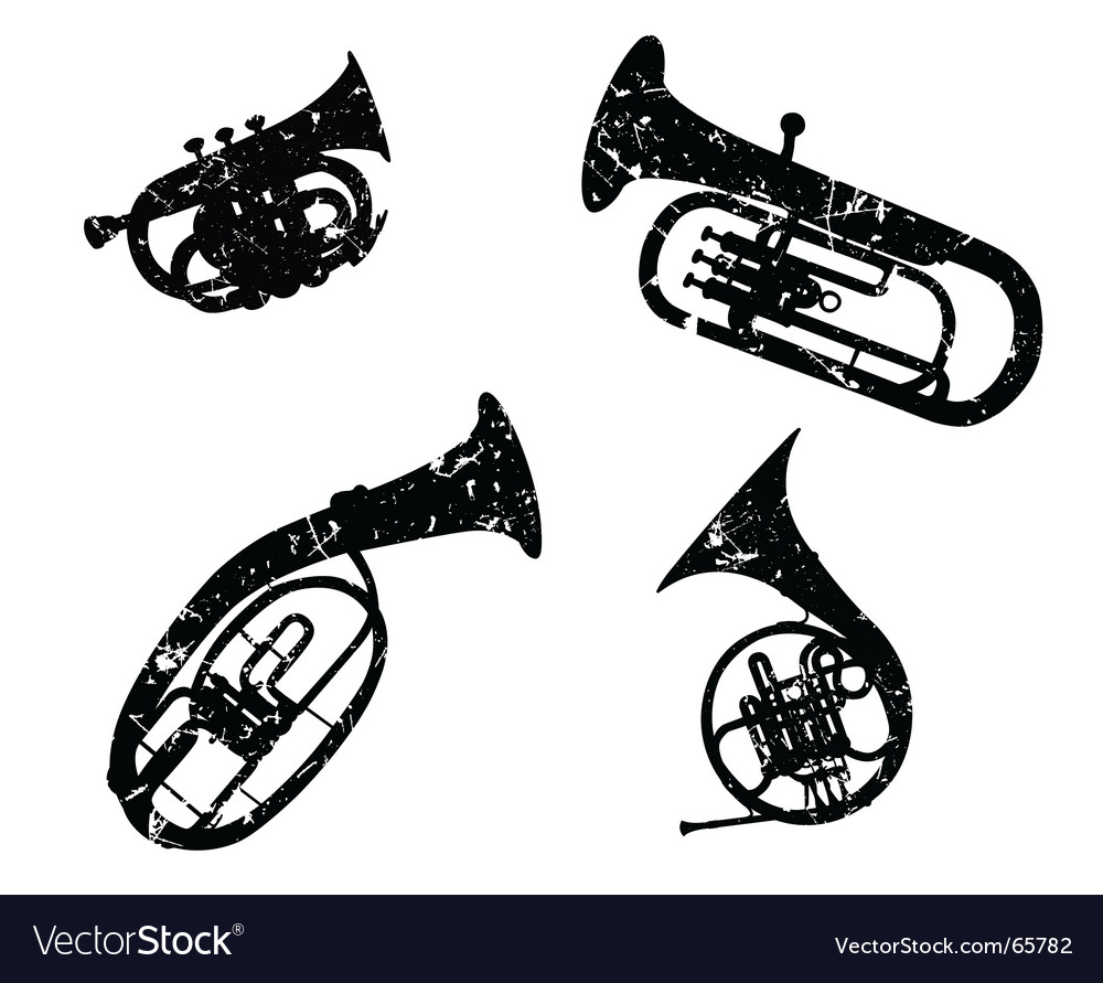 Wind musical instruments vector | Price: 1 Credit (USD $1)