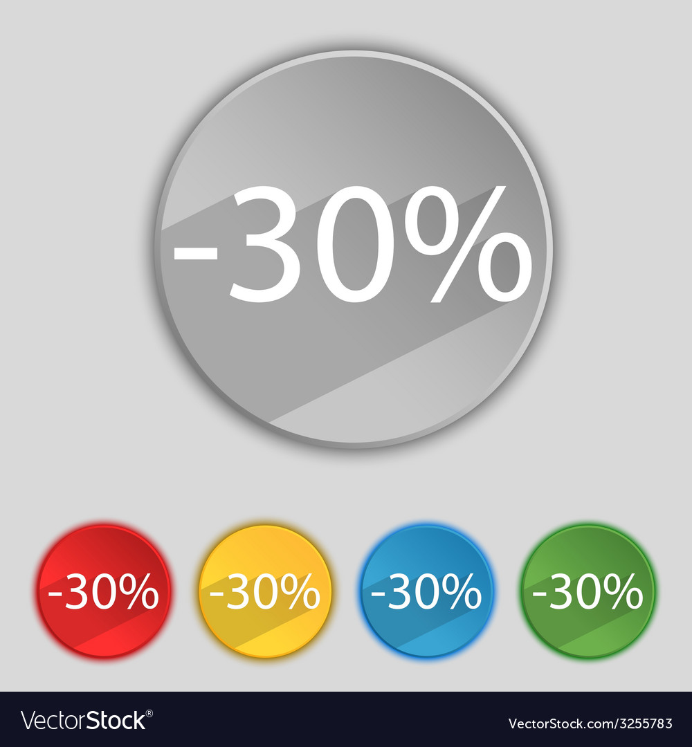 30 percent discount sign icon sale symbol special vector | Price: 1 Credit (USD $1)