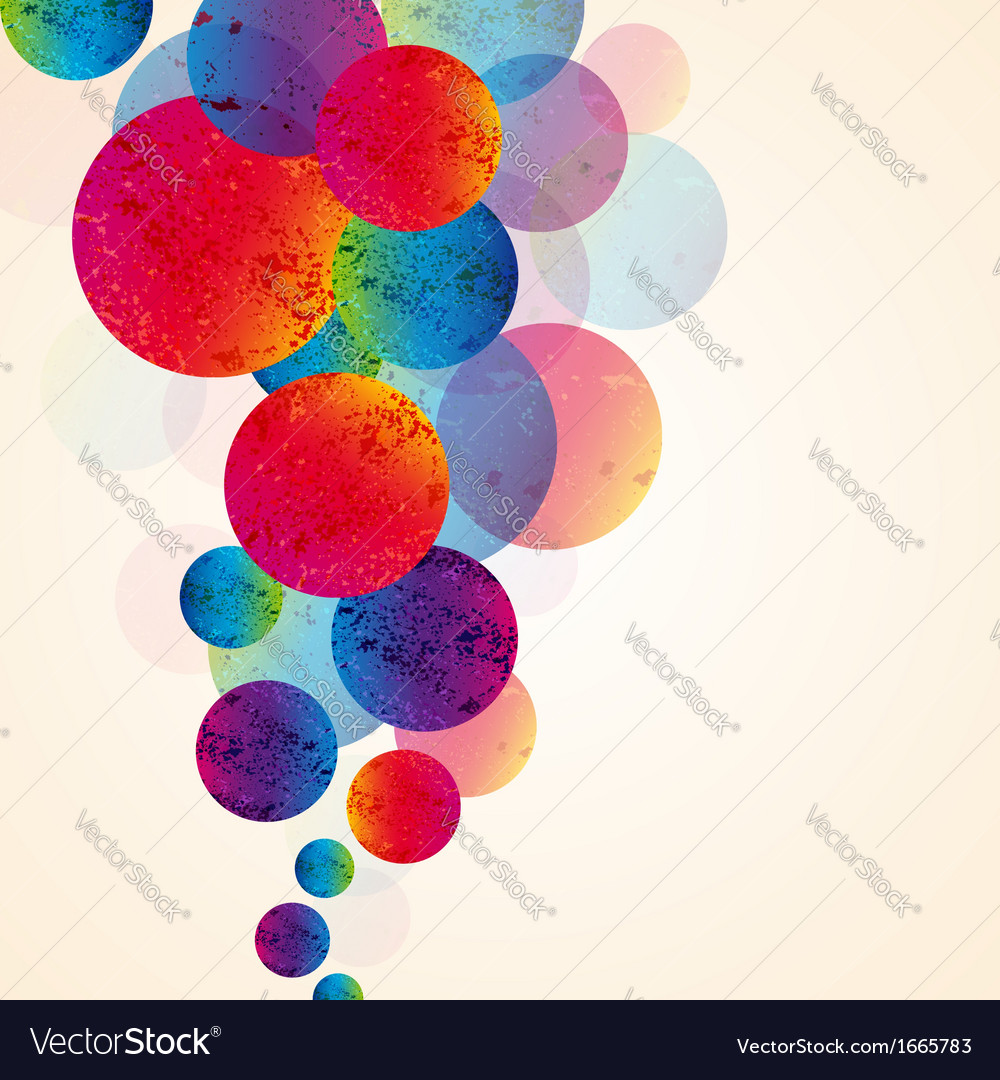 Abstract design tech circles background vector | Price: 1 Credit (USD $1)