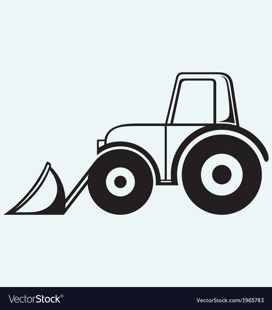 Agricultural machinery tractor vector | Price: 1 Credit (USD $1)
