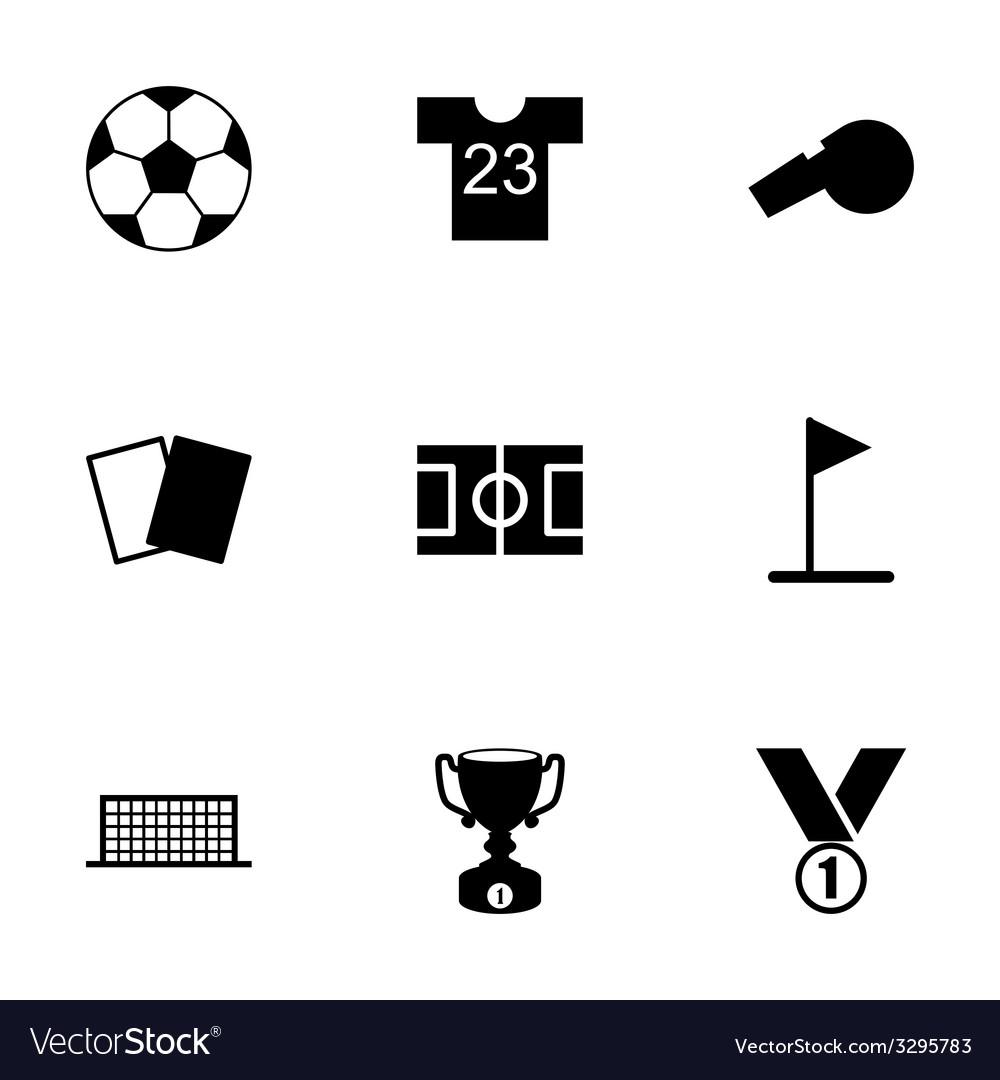 Black soccer icon set vector   Price: 1 Credit (USD $1)