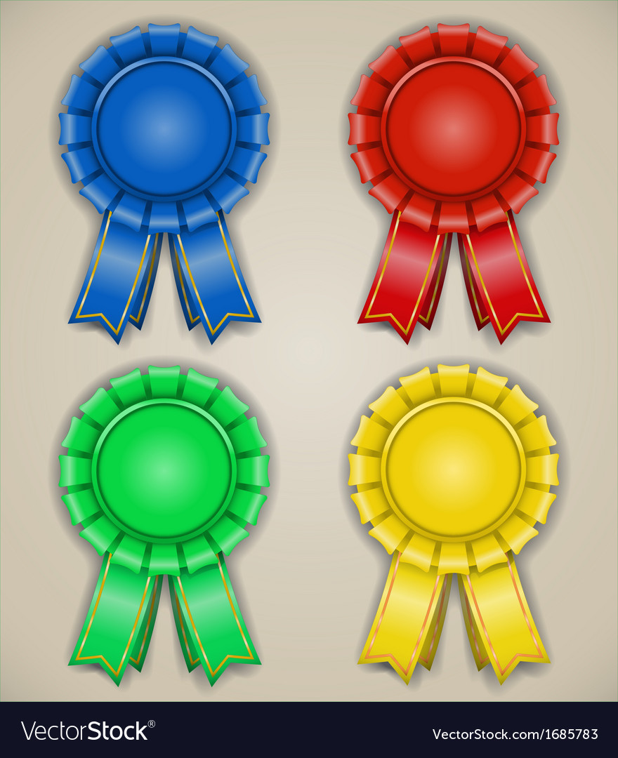 Blank emblems with ribbons vector   Price: 1 Credit (USD $1)