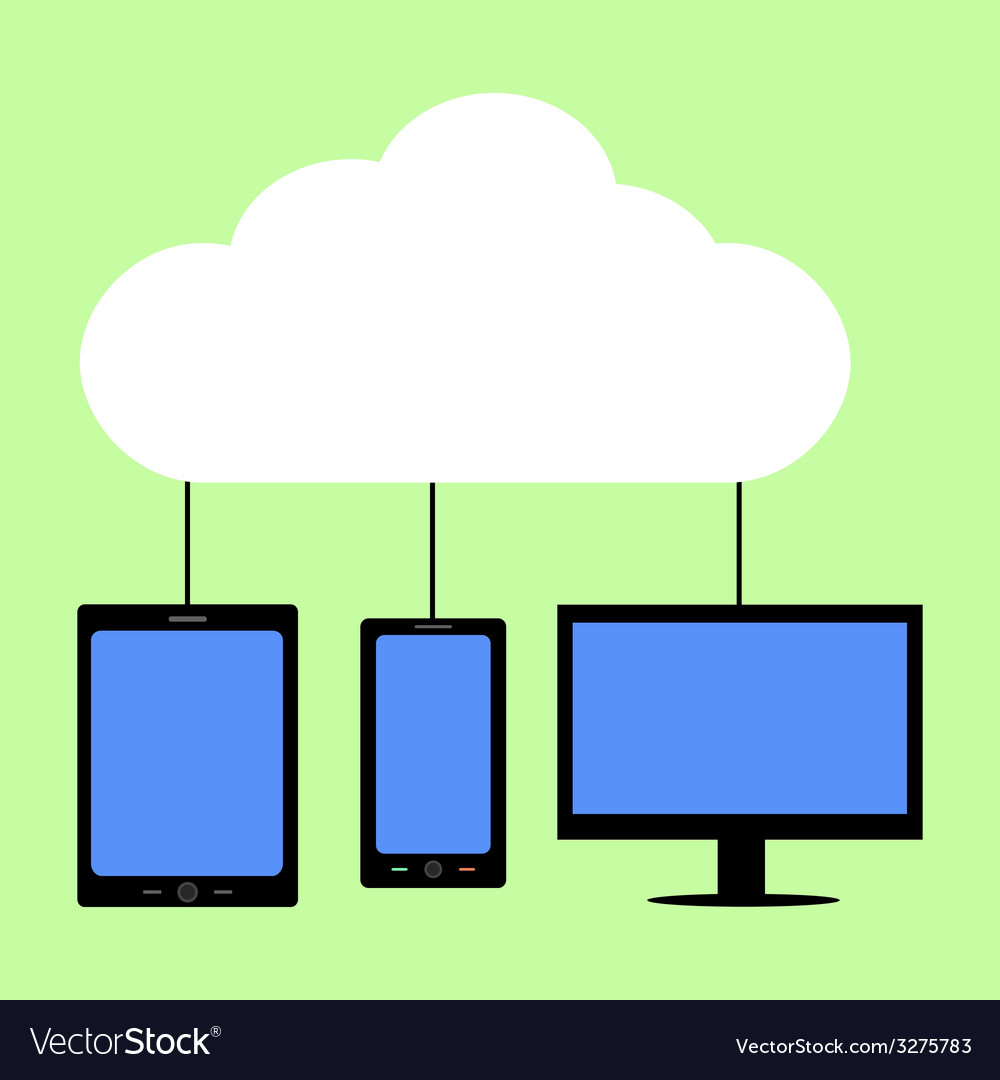 Flat style cloud computing vector | Price: 1 Credit (USD $1)