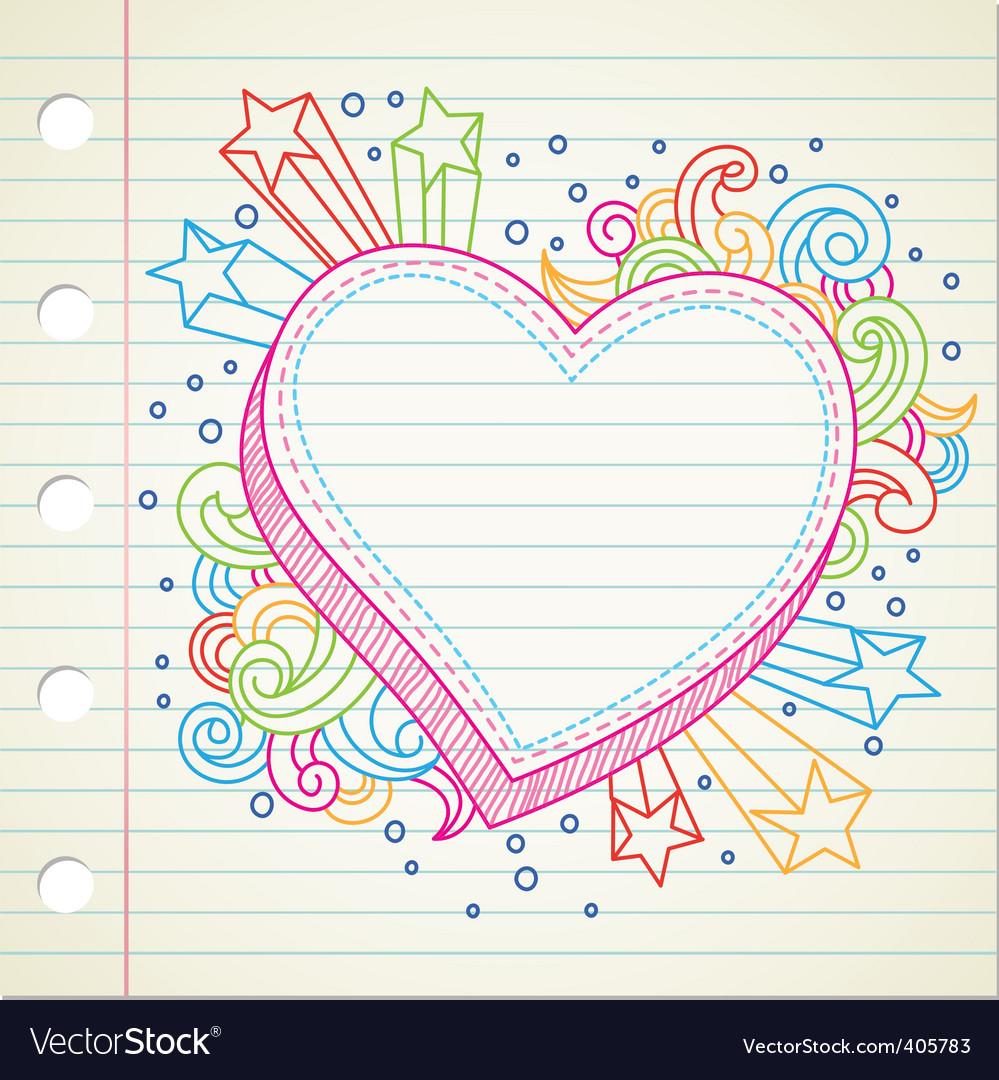 Heart doodle vector | Price: 1 Credit (USD $1)