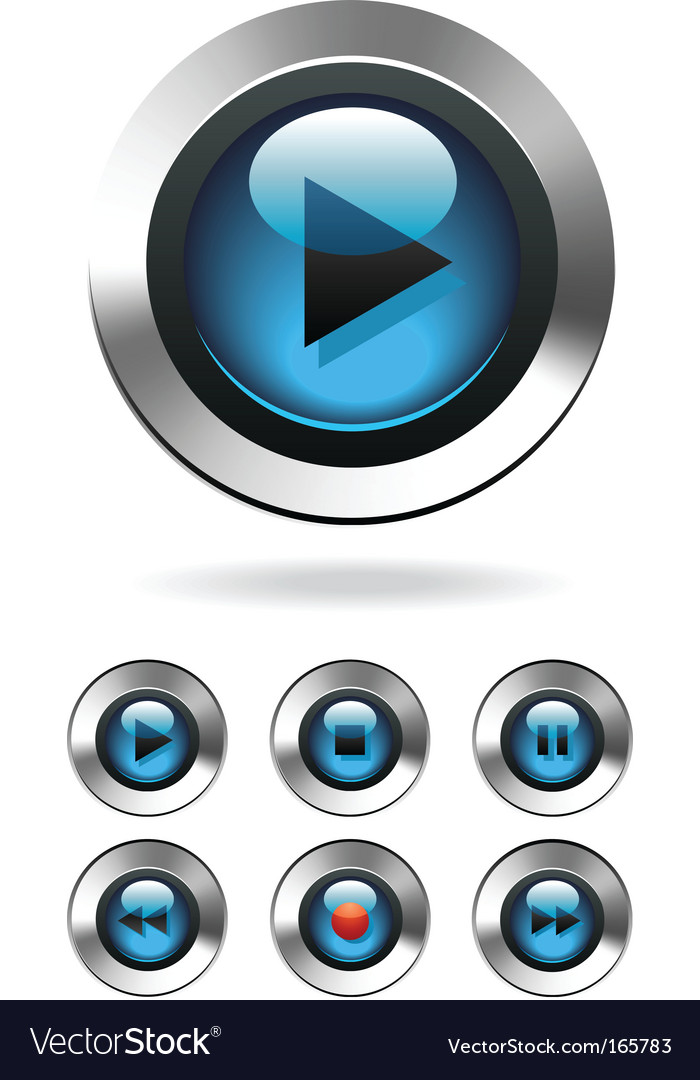 Music player button vector | Price: 1 Credit (USD $1)