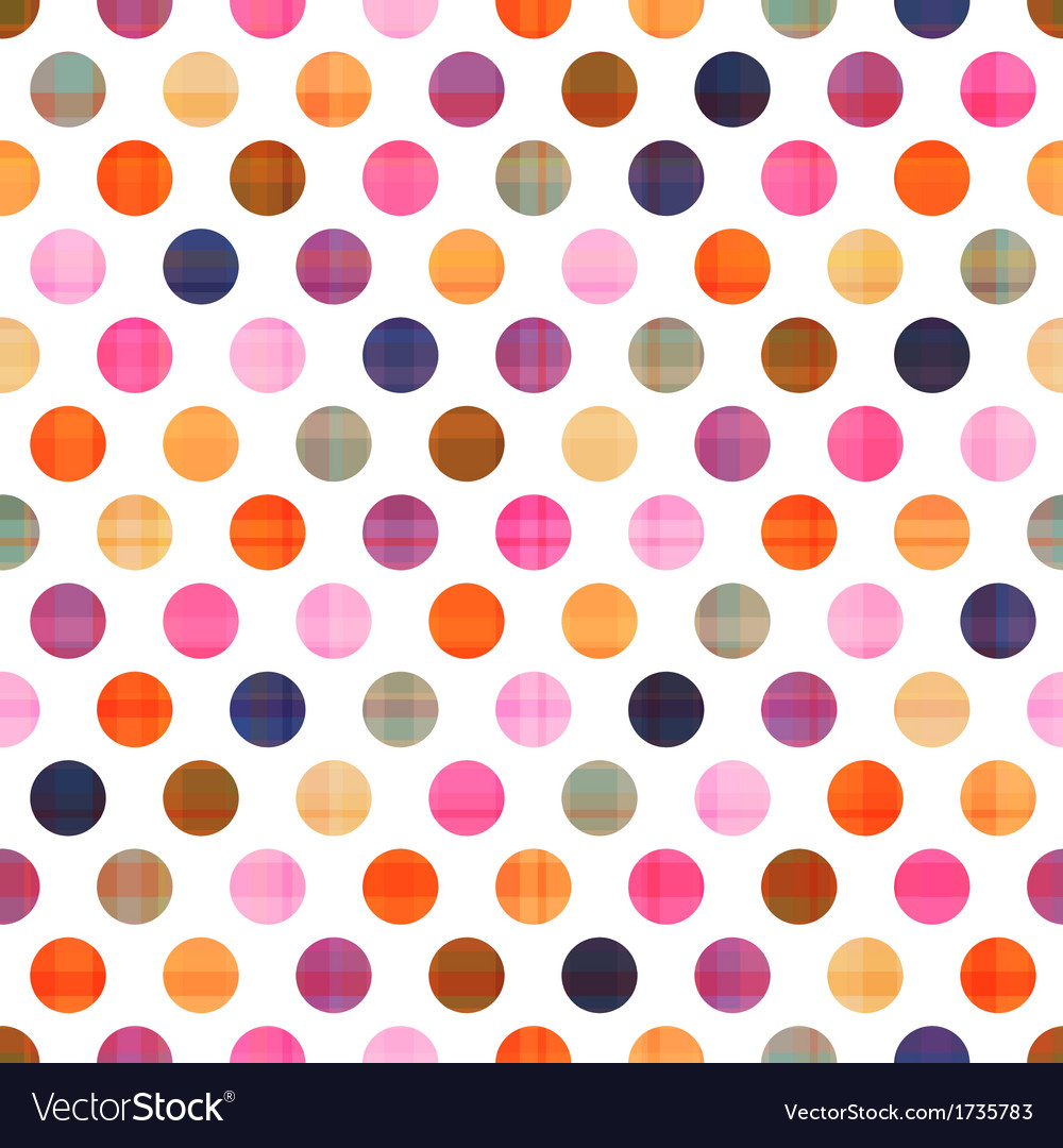 Seamless polka dots pattern texture vector | Price: 1 Credit (USD $1)