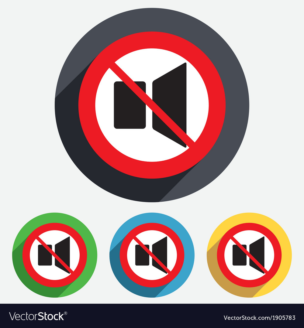 Speaker volume sign icon no sound symbol vector | Price: 1 Credit (USD $1)