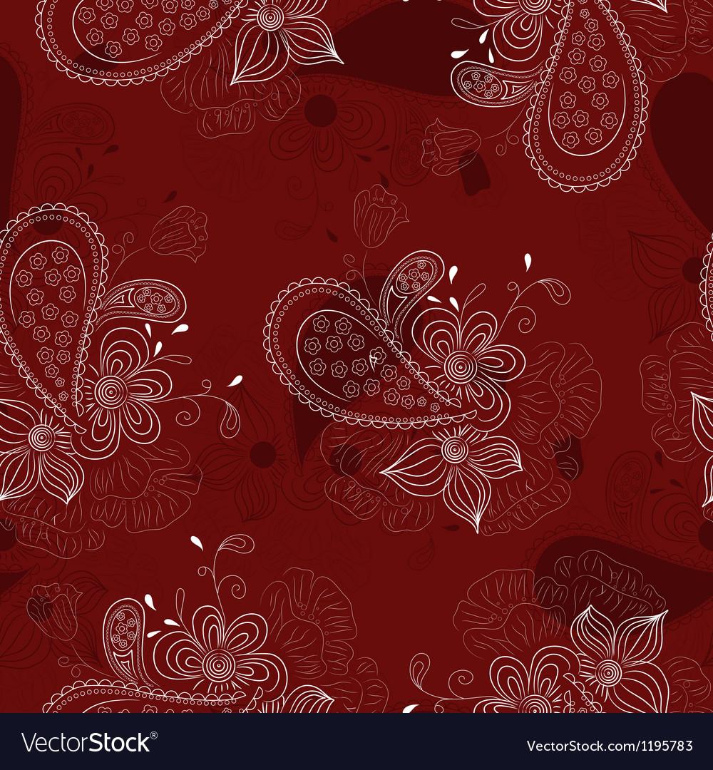 Vinous floral pattern vector | Price: 1 Credit (USD $1)