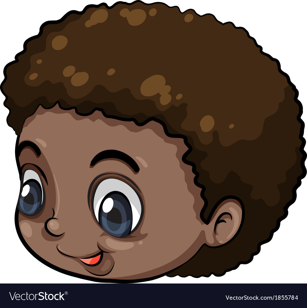 A head of a black young man vector | Price: 1 Credit (USD $1)