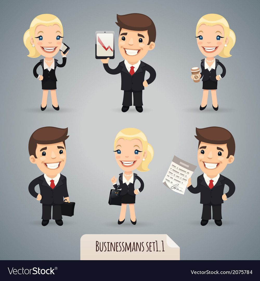 Businessmen set1 1 vector | Price: 1 Credit (USD $1)