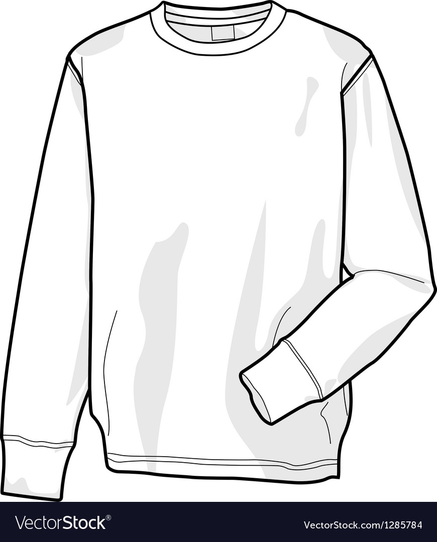 Colorable sweatshirt front vector | Price: 1 Credit (USD $1)
