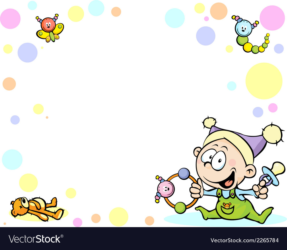 Cool baby background with funny baby toys and vector | Price: 1 Credit (USD $1)