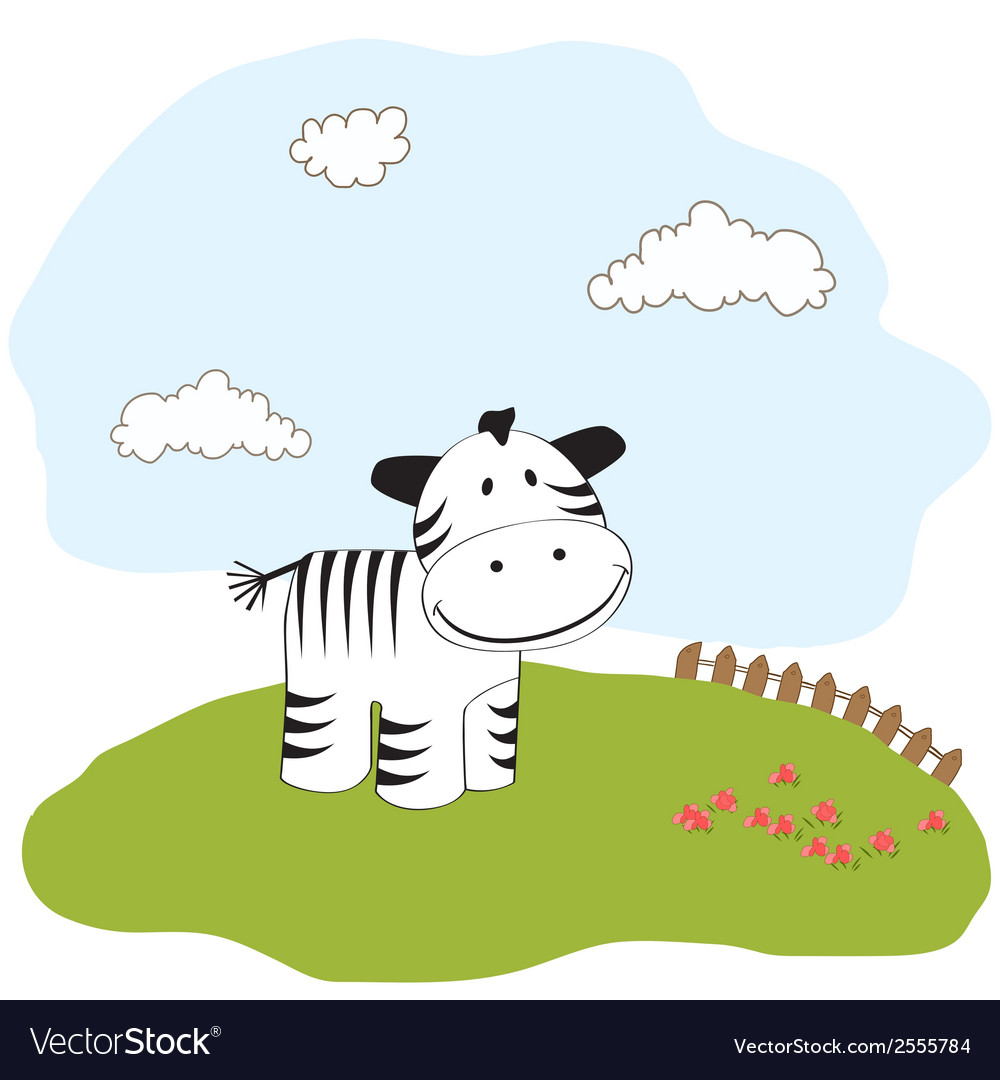 Cute baby shower card with zebra vector | Price: 1 Credit (USD $1)