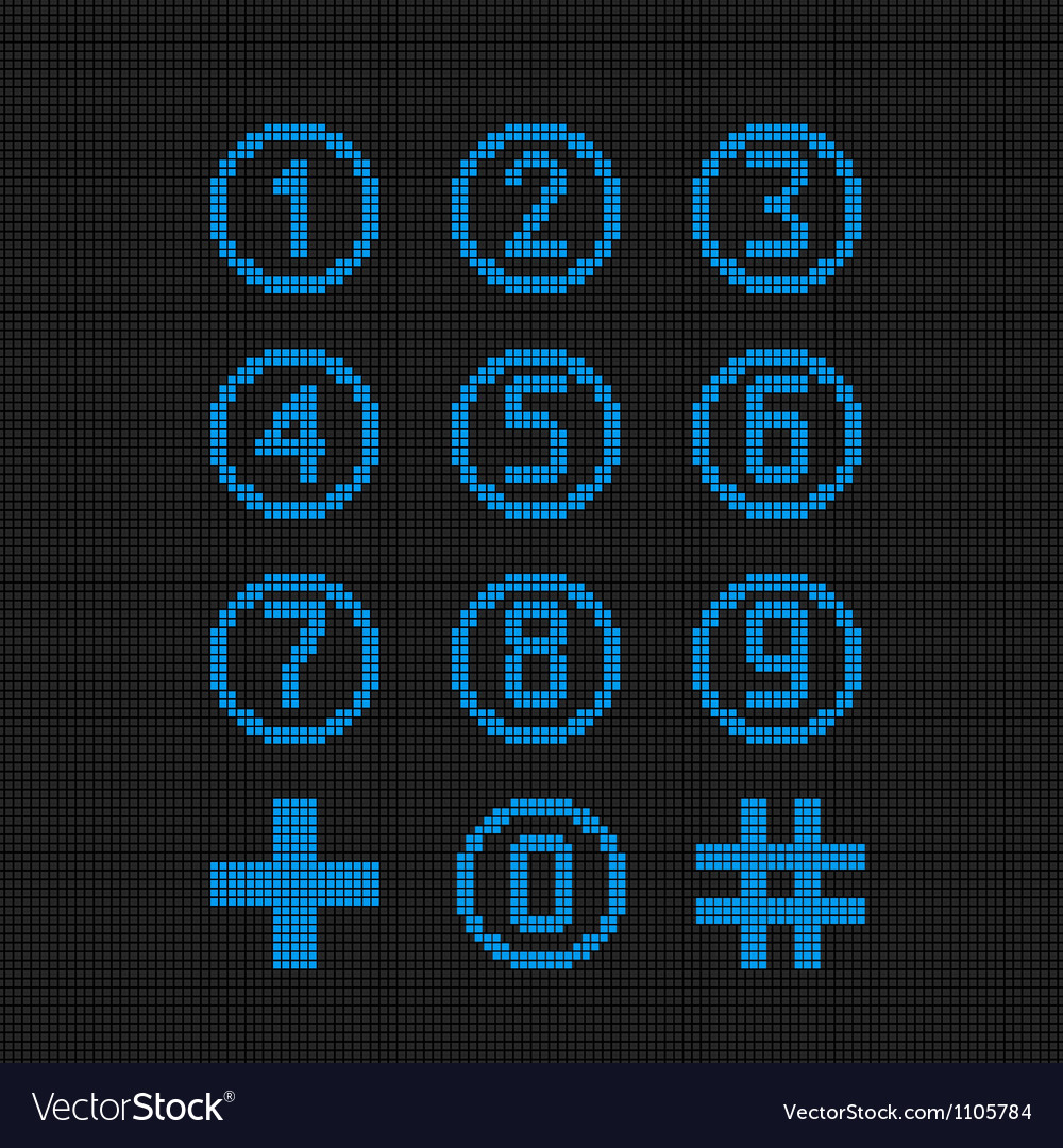 Digital numbers vector | Price: 1 Credit (USD $1)