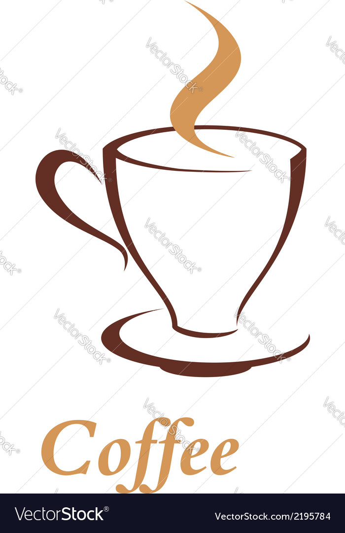 Elegant cup and saucer of steaming beverage vector | Price: 1 Credit (USD $1)