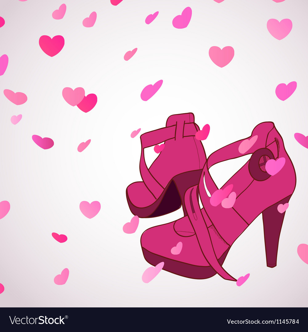 Female shoes background vector | Price: 1 Credit (USD $1)