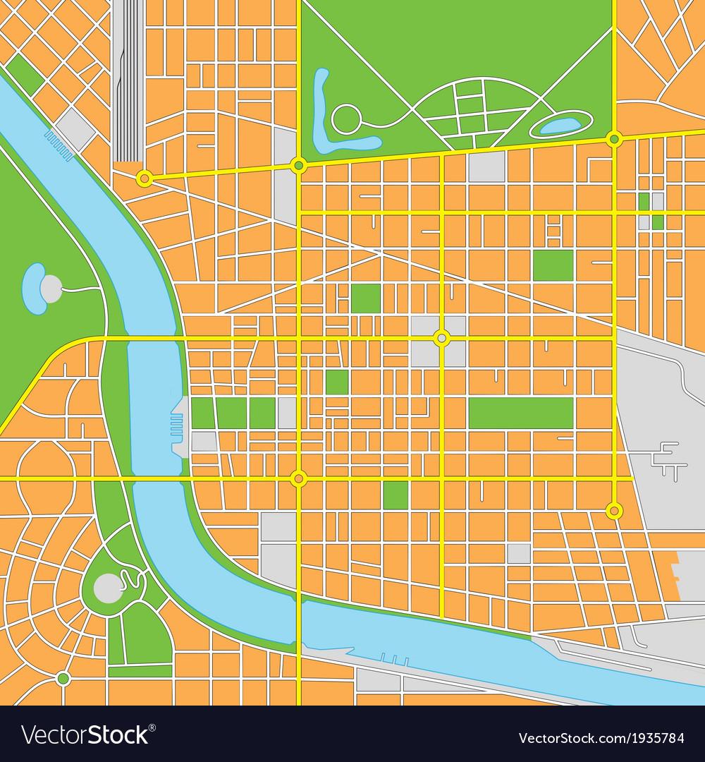 Generic citymap vector | Price: 1 Credit (USD $1)