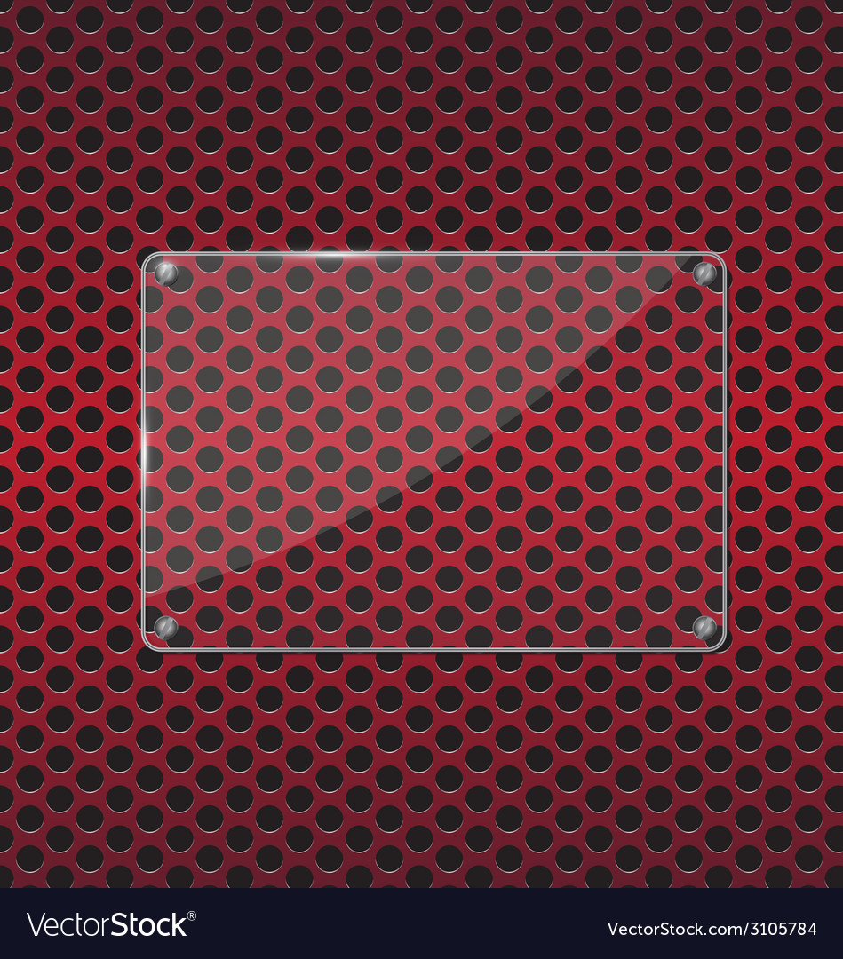 Glass plate on red background vector | Price: 1 Credit (USD $1)