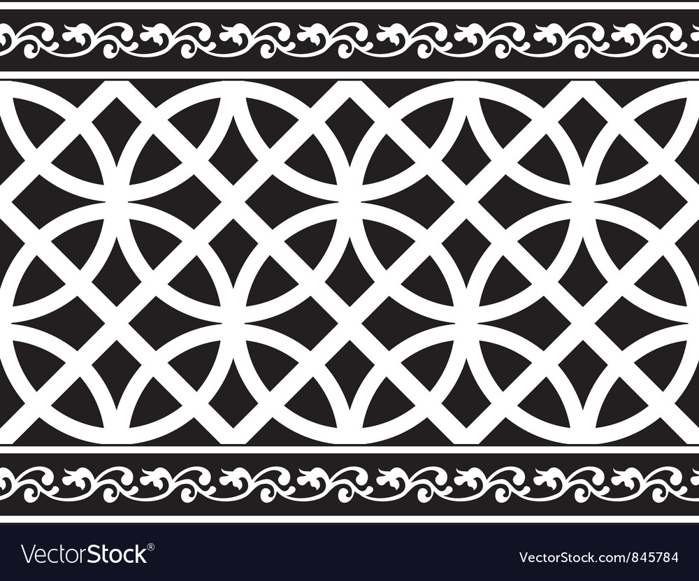 Gothic floral texture border vector | Price: 1 Credit (USD $1)