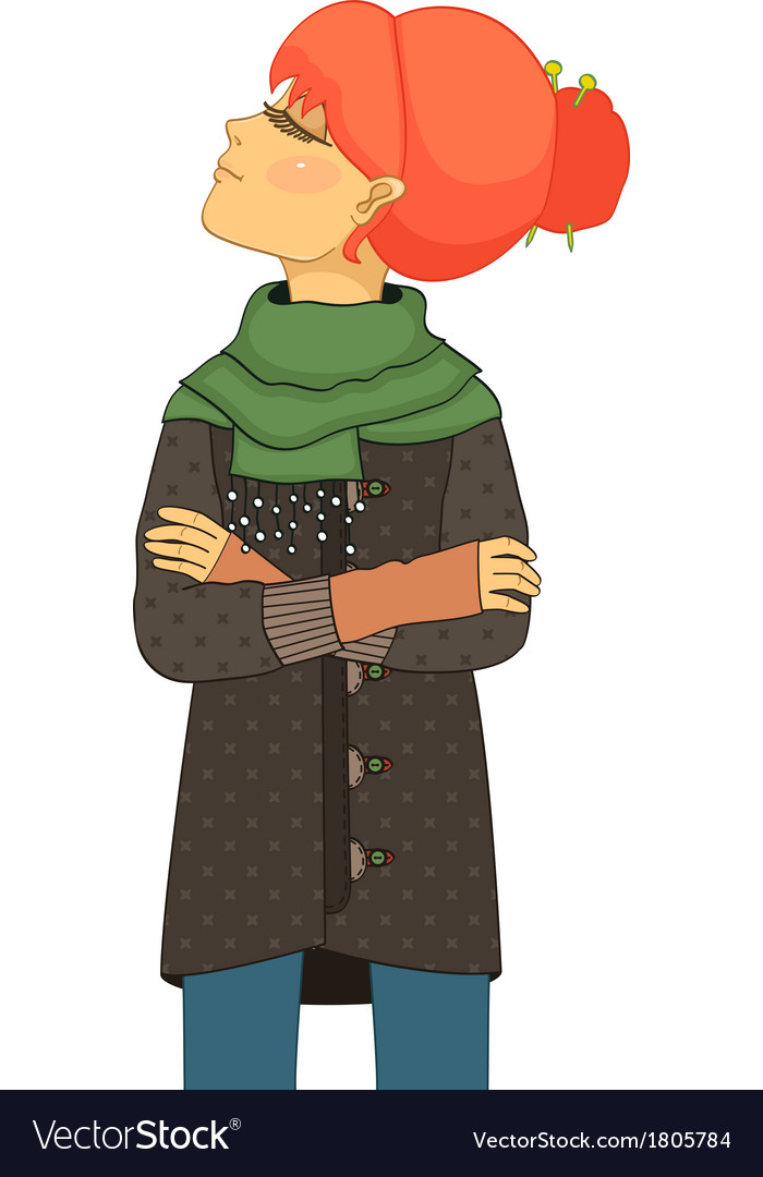 Haughty girl with head up vector   Price: 1 Credit (USD $1)